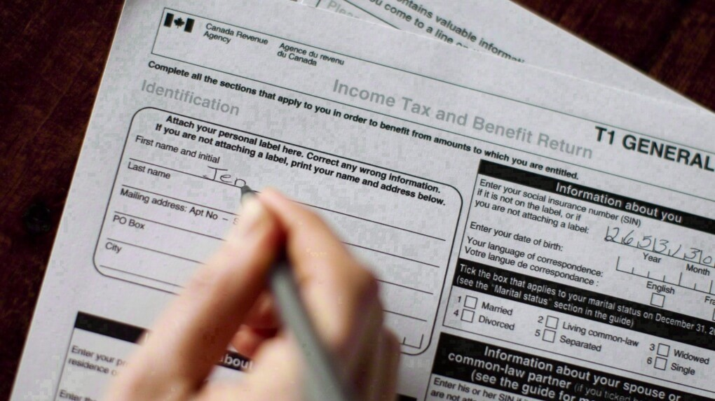 Image of T1 to file line 15000 on tax return